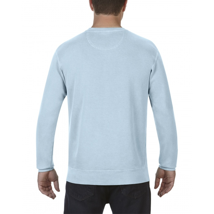 Cc1566 Comfort Colors Adult Crewneck Sweatshirt Chambray
