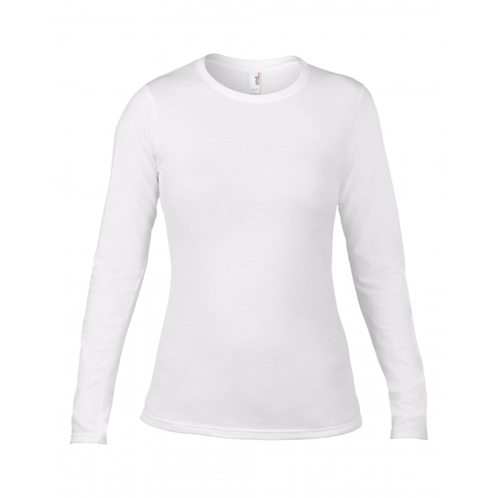 Anv374l women 39 s fashion basic fitted long sleeve tee for Women s long sleeve fitted t shirts