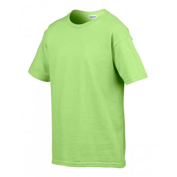 Gb64000 softstyle youth t shirt mint green gildan for Mint color t shirt
