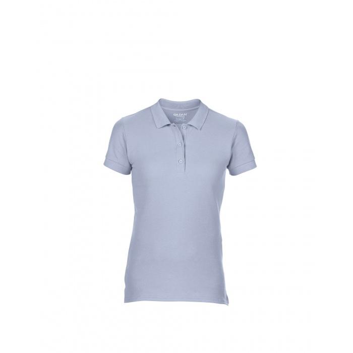 GL85800, Premium Cotton Ladies Double Piqué Polo (Light Blue