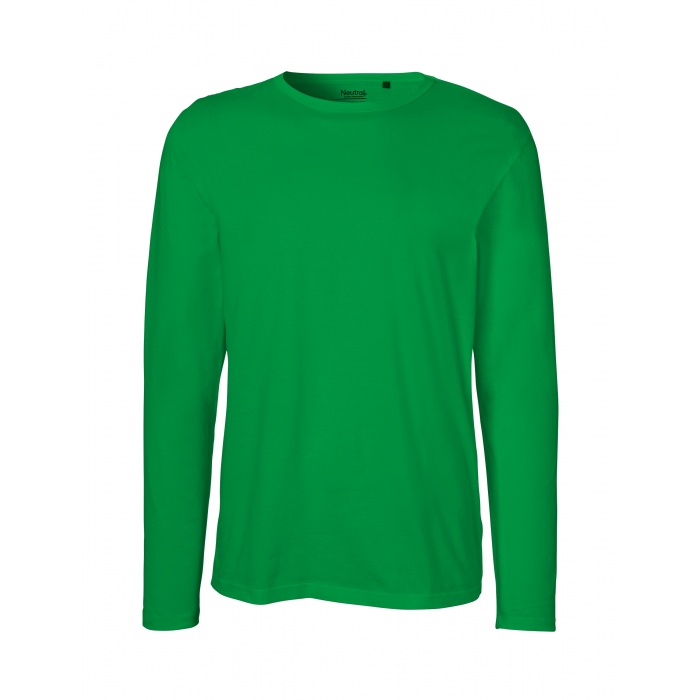 4f37b87b46b2 ... 100% Organic Fairtrade Cotton; 155 g/m²; Slightly fitted T-Shirt with  round neck and long sleeves; Single jersey knit. 1; 2; 3